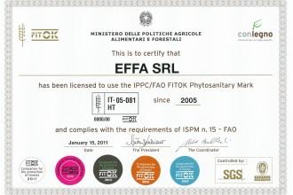 Certificazione IPPC/FAO FITOK